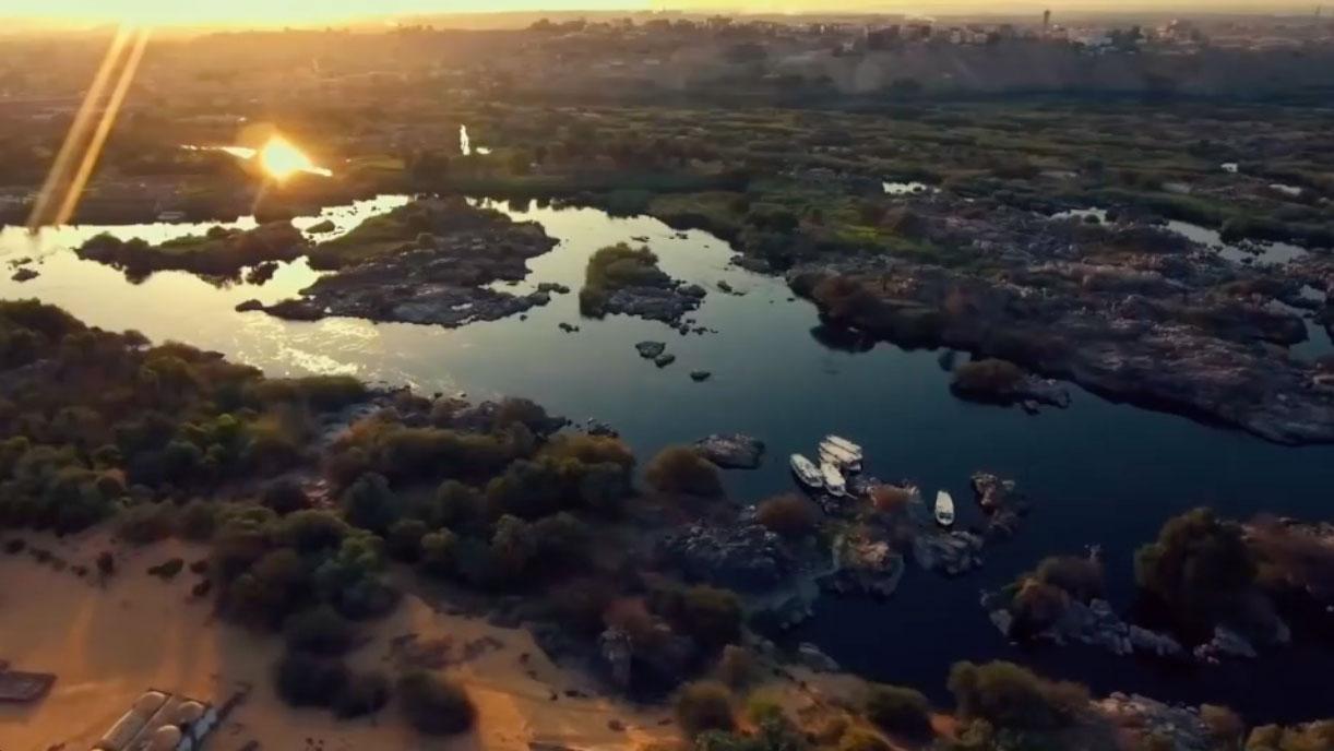 Egipto Nilo vista aerea