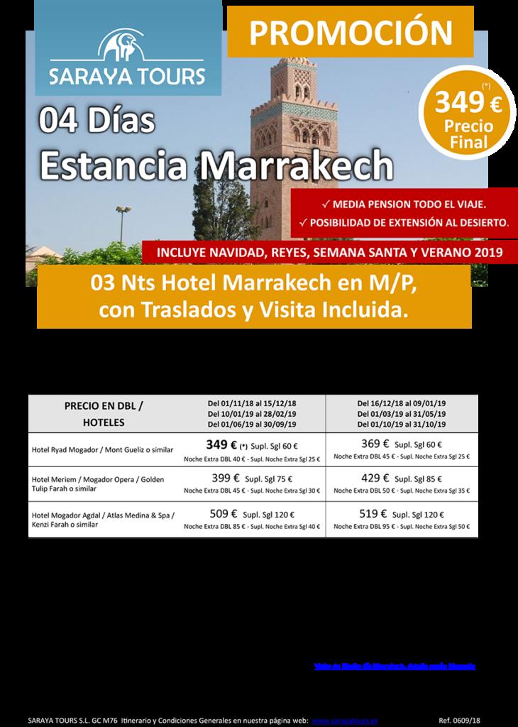 viajes a marruecos 4 dias marrakech
