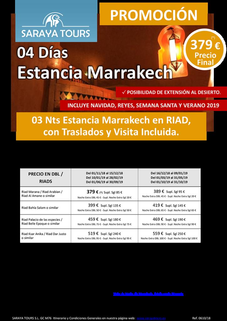 viajes a marruecos 4 dias marrakech en riad