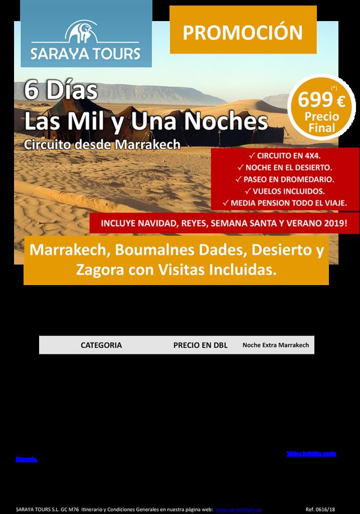 viajes a marruecos 6 dias las mil y una noches