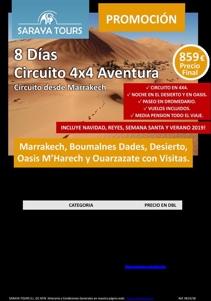 viajes a marruecos 8 dias circuito aventura