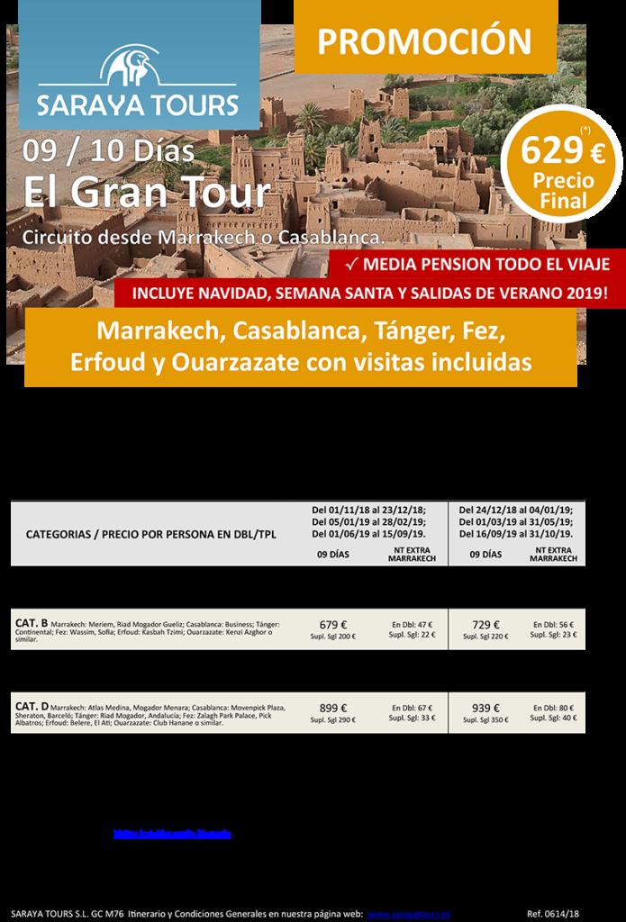 viajes a marruecos 9 o 10 dias gran tour