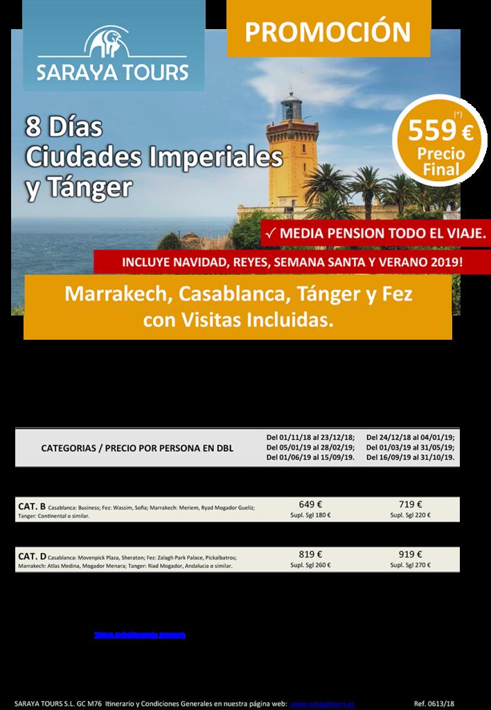 viajes a marruecos ciudades imperiales y tanger 8 dias